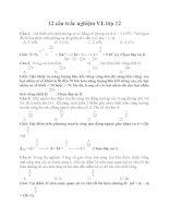 12 câu trắc nghiệm VL lớp 12