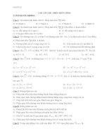 Bài tập trắc nghiệm Toán lớp 11: Phép biến hình