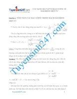 Các dạng bài tập về đại cương về dao động điện từ có lời giải chi tiết