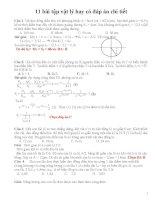 11 bài tập vật lý hay có đáp án chi tiết