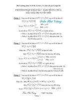 Một số phương pháp vẽ hàm số có chứa dấu giá trị tuyệt đối