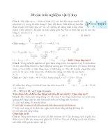 30 câu trắc nghiệm vật lý hay