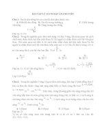 BÀI tập lý 12 có đáp án CHI TIẾT