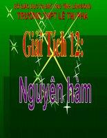 Bài giảng Giải tích 12 chương 3 bài 1: Nguyên hàm