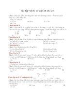 Bài tập vật lý có đáp án chi tiết