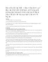 Hướng dẫn viết bài tập làm văn số 5 – văn nghị luận