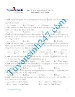 60 câu bài tập nâng cao về dao động điều hòa có đáp án