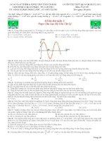 Đề thi thử môn vật lý THPT quốc gia