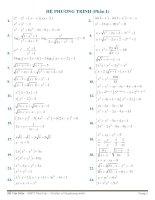 100 câu hệ phương trình  giải chi tiết cực hay