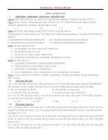 Các dạng bài tập axit cacboxylic