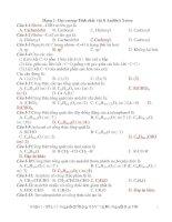Bài tập trắc nghiệm chủ đề andehit và đồng đằng, đồng phân