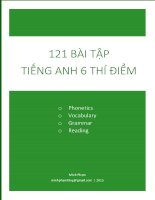 BT tieng anh 6 thi diem theo unit