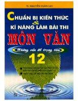 Chuẩn bị kiến thức  kỹ năng làm bài thi môn văn 12 Nguyễn Xuân Lạc p1