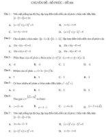 Rèn luyện kỹ năng giải toán trắc nghiệm chuyên đề số phức