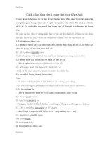 Cách dùng tính từ và trạng từ trong tiếng Anh