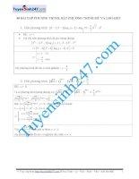 40 bài tập phương trình, bất phương trình mũ   logarit (có lời giải chi tiết)