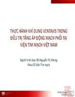 Thực Hành Khí Dung Ventavis Trong Điều Trị Tăng Áp Động Mạch Phổi