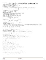 bài tập sinh học 12 ôn thi THPTQG 2106