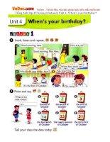 Tiếng Anh lớp 4 Chương trình mới Unit 4: When's your birthday?