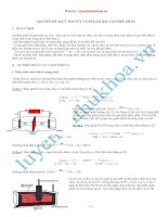 Chuyên đề 16 lý thuyết điện phân và phương pháp giải bài tập điện phân