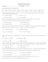 12 đề KT 15 phút vật lý 12 cơ bản