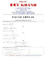 Tuyển các dạng và phương pháp giải toán giới han hàm số