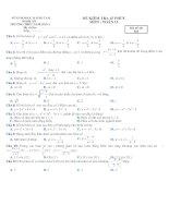 KIEM TRA 45p TRAC NGHIEM toán
