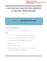 9 phương pháp giải phương trình mũ và phương trình lôgarit   tài liệu ôn tập môn toán lớp 12