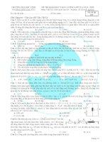 ĐỀ THI KHẢO SÁT CHẤT LƯỢNG LỚP 12, LẦN 3 - 2015