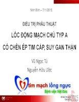 Lóc Động Mạch Chủ TYP A Có Chèn Ép Tim Cấp, Suy Gan Thận