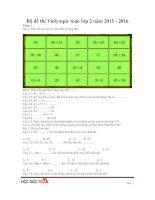 Bộ đề thi violympic toán lớp 2 năm 2015   2016