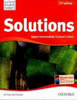 Oxford solutions 2nd edition upper intermediate student book