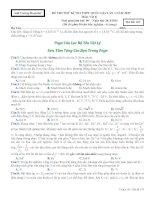 ĐỀ THI THỬ KÌ THI THPT QUỐC GIA LẦN 4 NĂM 2015 Môn: Vật lý