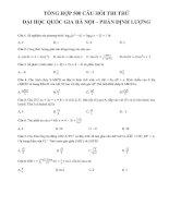 Bộ đề toán đánh giá năng lực của ĐHQGHN có đáp án