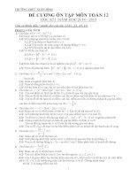 Đề cương ôn tập mon toán lớp 12  (49)