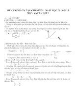 Đề cương ôn tập môn vật lý lớp 9 (4)