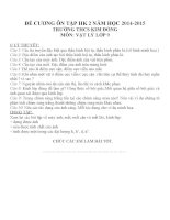 Đề cương ôn tập môn vật lý lớp 9 (11)