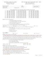 Tài liệu ôn tập môn sinh học lớp 12 luyện thi đại học (5)