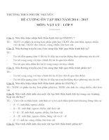 Đề cương ôn tập môn vật lý lớp 9 (36)