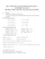 Đề cương ôn tập môn toán lớp 11 (74)