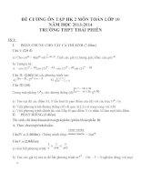 Đề cương ôn tập môn toán lớp 10 (84)