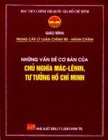 Những vấn đề cơ bản của chủ nghĩa Máclênin, tư tưởng Hồ Chí Minh