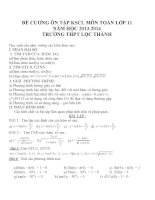Đề cương ôn tập môn toán lớp 11 (53)