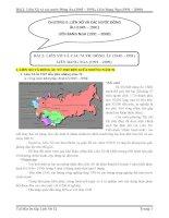 Bài 2 liên xô và các nước đông âu (1945 – 1991), liên bang nga (1991 – 2000)
