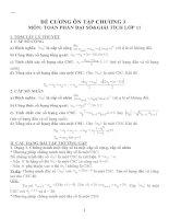 Đề cương ôn tập môn toán lớp 11 (20)