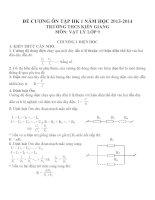 Đề cương ôn tập môn vật lý lớp 9 (33)