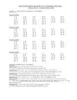 Bộ đề thi học kì 1 môn tiếng anh lớp 10 tỉnh đồng tháp năm 2012   2013 (chương trình chuẩn)   đề kiểm tra học kì 1 môn tiếng anh lớp 10 có đáp án