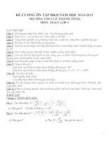 Đề cương ôn tập môn toán lớp 9 (15)