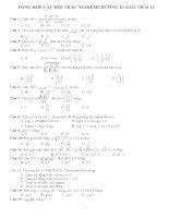 Câu hỏi và bài tập trắc nghiệm giải tích 12 chương 2 Lũy thừa, Logarit, Hàm số lũy thừa, Hàm số mũ, Hệ phương trình Mũ và Logarit, Bất phương Mũ và Logarit
