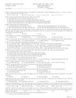 Tài liệu ôn tập môn sinh học lớp 12 luyện thi đại học (4)
